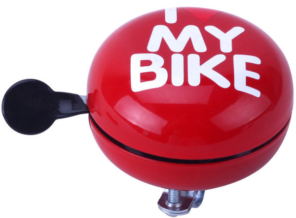 "Glocke DingDong ""I love my bike"" Rot"