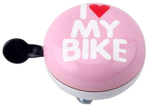 "Glocke DingDong ""I love my bike"" Rosa"