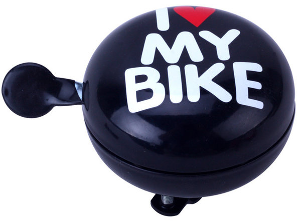 "Glocke DingDong ""I love my bike"" Schwarz"